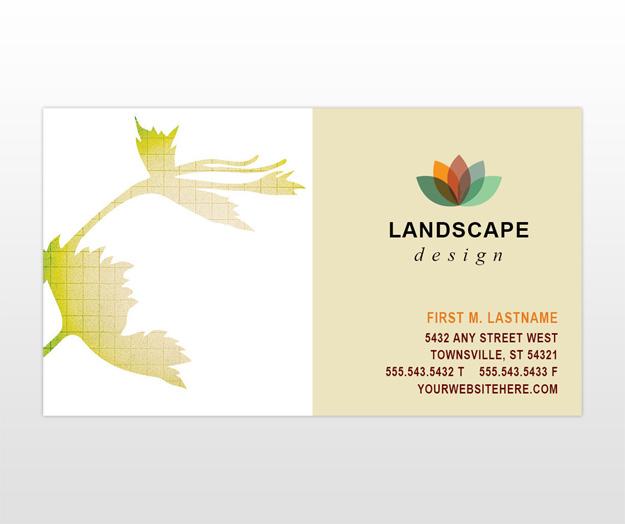 Landscape design services company business card templates for Landscape design company