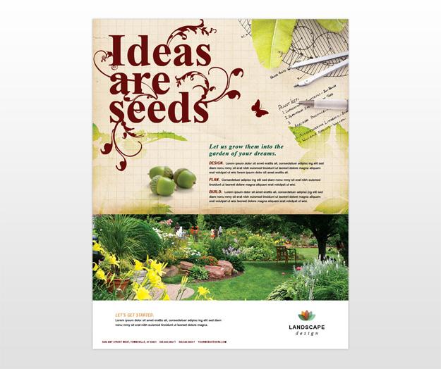 Pics Photos Landscape Design Flyer Ad Template Design