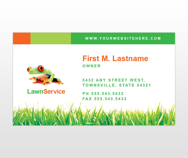 Lawn Maintenance Business Services Business Card Templates