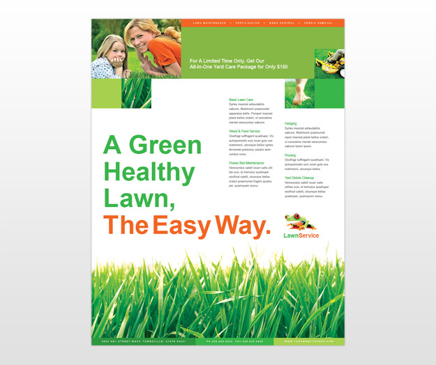 Lawn service flyer template free for Garden maintenance flyer template