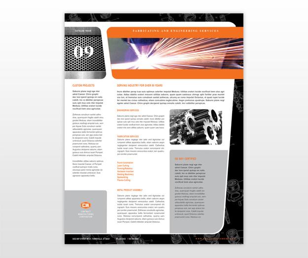 manufacturing engineering brochure template .