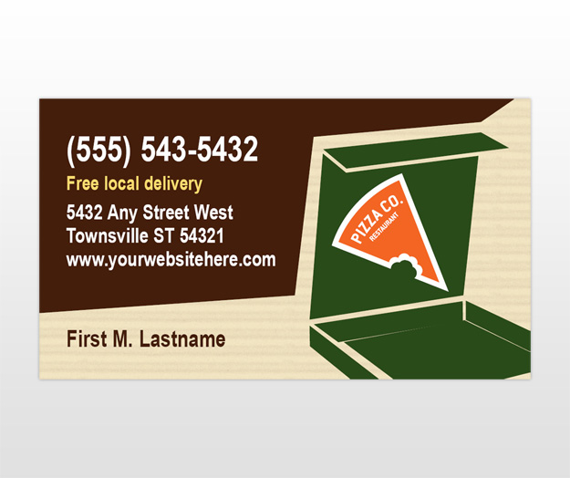Indian restaurant business card templates pizza pizzeria restaurant business card template accmission Image collections
