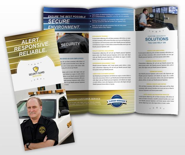 security brochure template