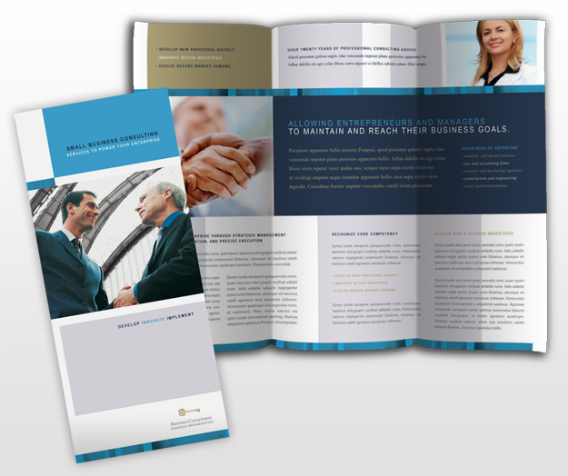 Simple tips on handy small business consulting methods for Consulting brochure template