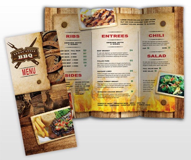 Food Brochure Template - Menu brochure template