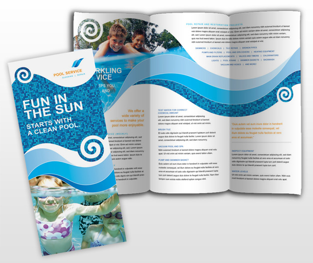 Swimming Pool Service Brochure Design : Document moved
