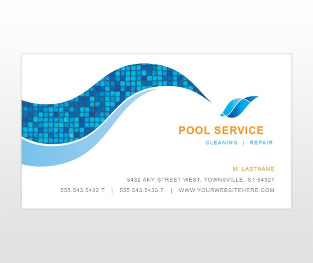 Pool service business card ideas best business cards for Pool service business cards