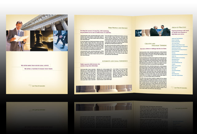 legal brochure template - law firm brochure