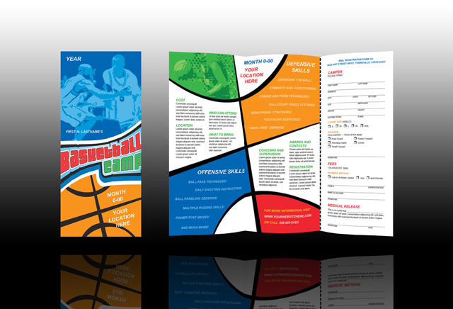 camp brochure template - word template of basketball court new calendar template site