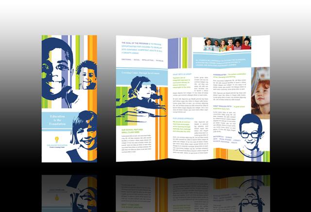 640 x for Elementary school brochure template
