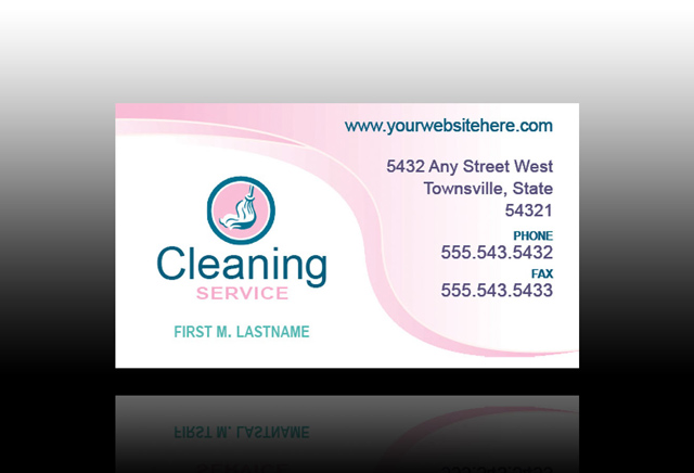 Cleaning services business cards samples for Cleaning business cards templates free