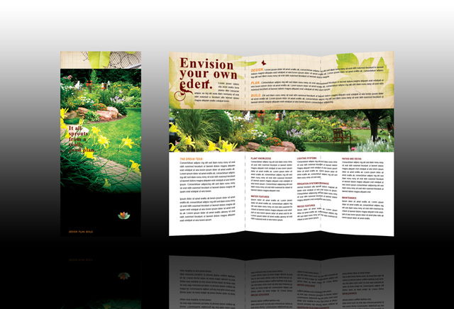 landscape brochure template - landscape design brochure