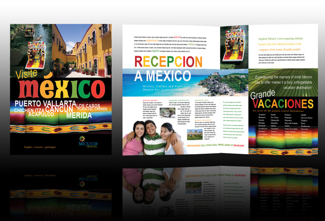 Brochure of mexico for Mexico brochure template