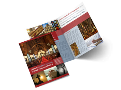 General Church 1 Bi-Fold Brochure Template 2