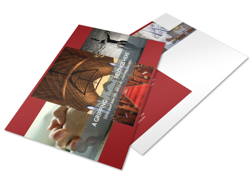 General Church 1 Postcard Template Preview 4