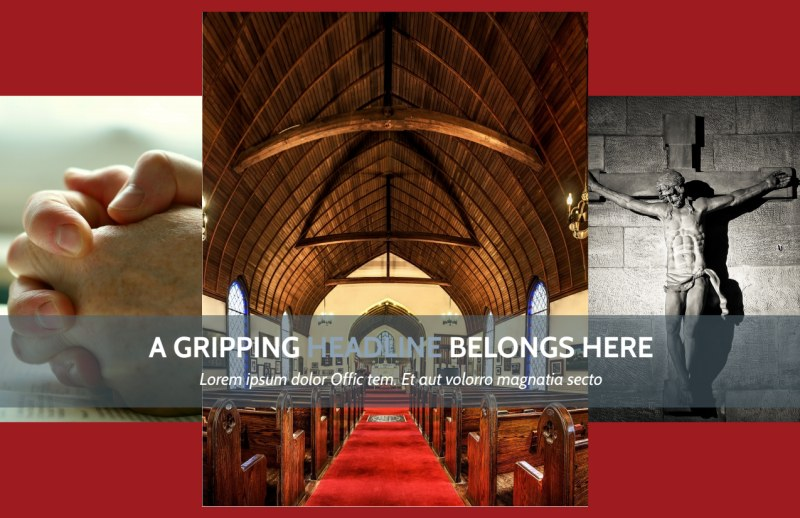 General Church 1 Postcard Template Preview 2