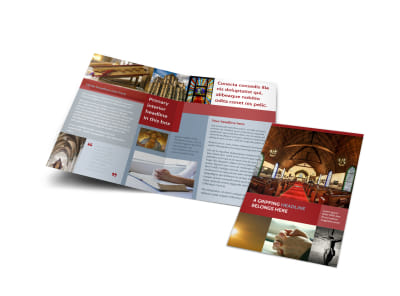 General Church 1 Bi-Fold Brochure Template preview