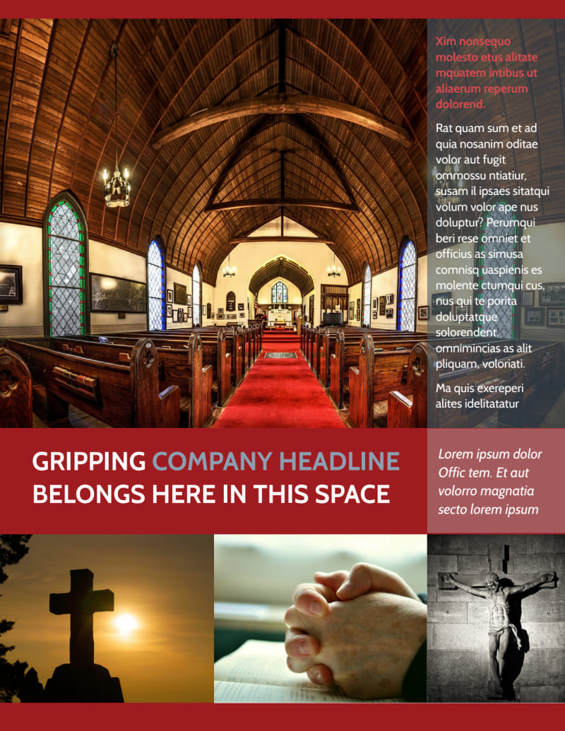 General Church 1 Flyer Template Preview 2