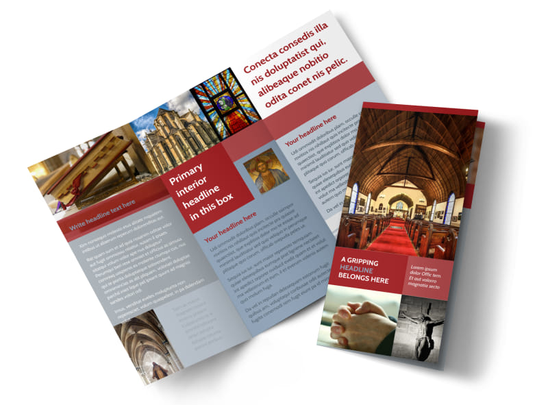 General church 1 brochure template mycreativeshop for Church brochure templates free