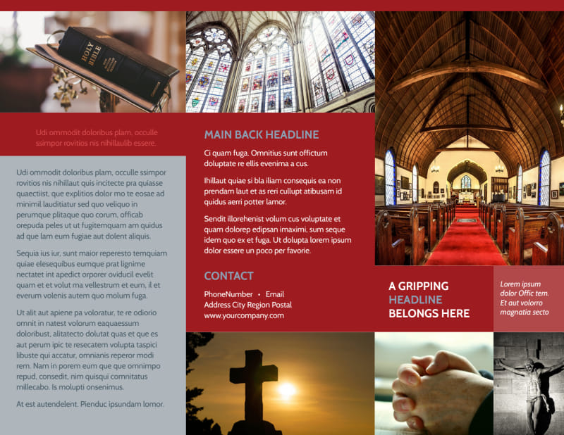 General Church 1 Brochure Template Preview 2