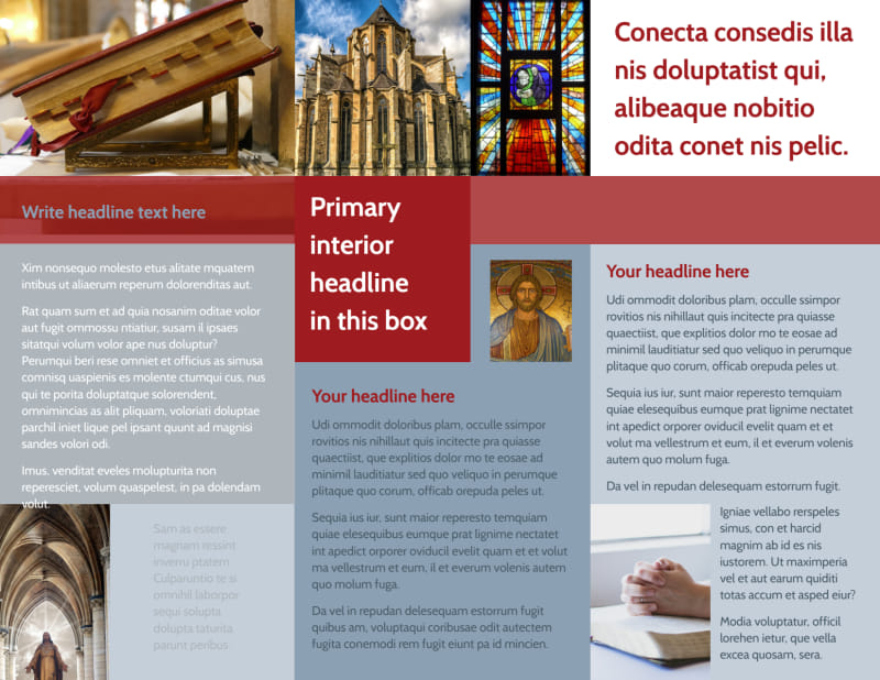 General Church 1 Brochure Template Preview 3
