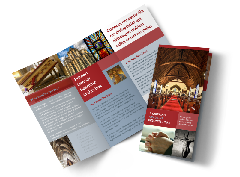 General Church 1 Brochure Template Preview 1