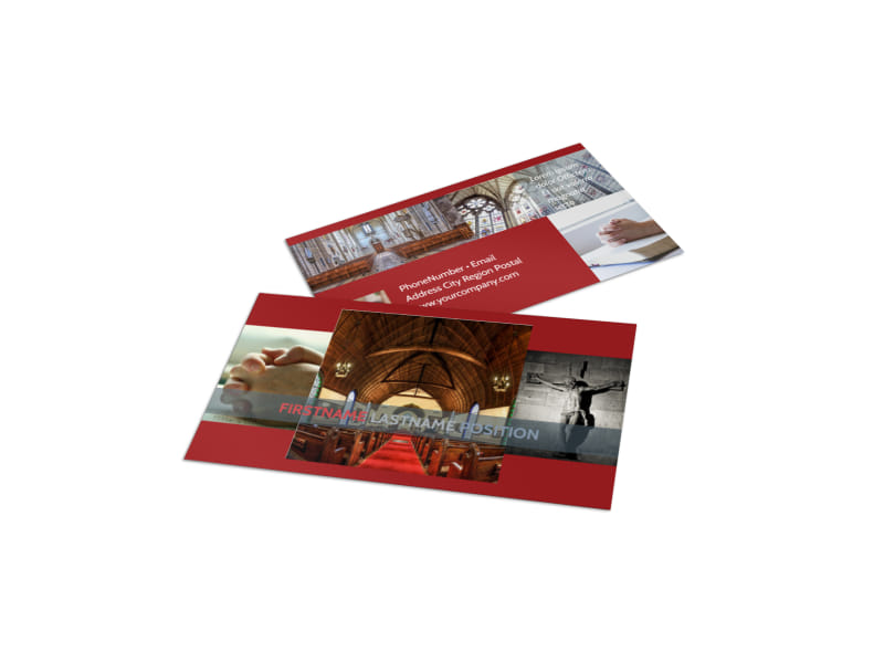 General Church 1 Business Card Template