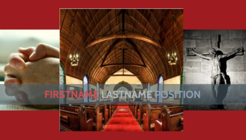 General Church 1 Business Card Template Preview 2