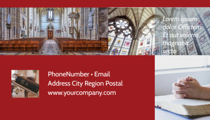General Church 1 Business Card Template Preview 3
