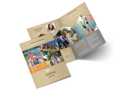 Bible Camp Bi-Fold Brochure Template 2