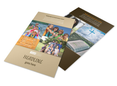 Bible Camp Flyer Template 3 preview