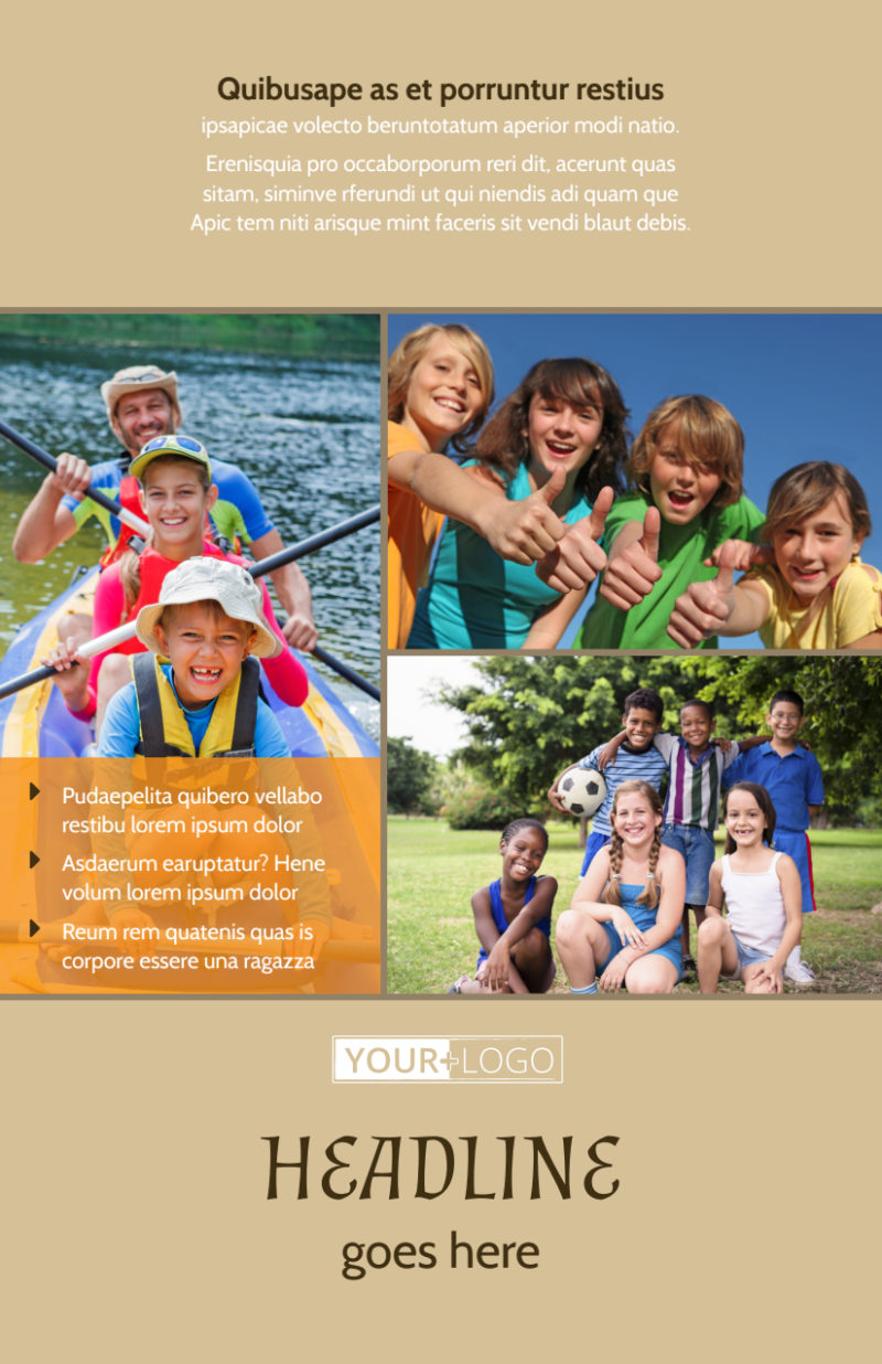 Bible Camp Flyer Template Preview 2
