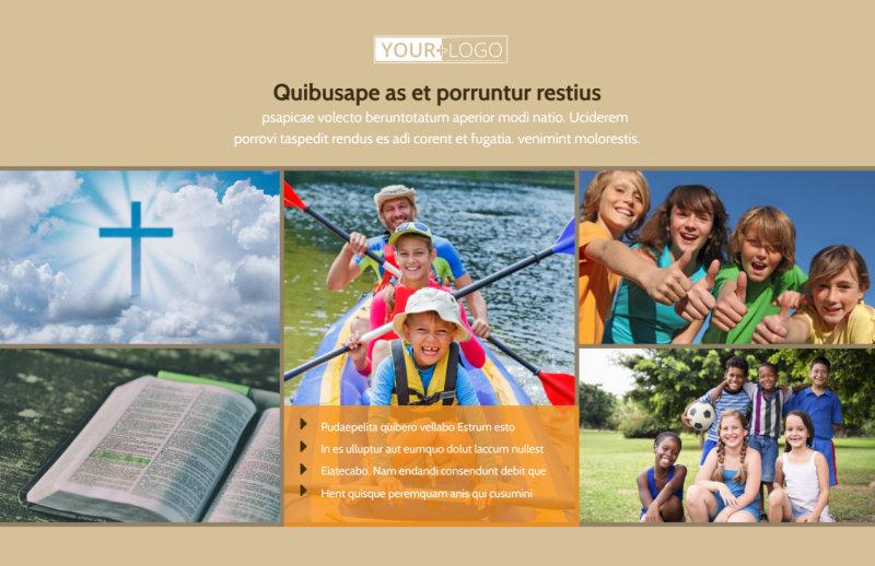 Bible Camp Postcard Template Preview 2