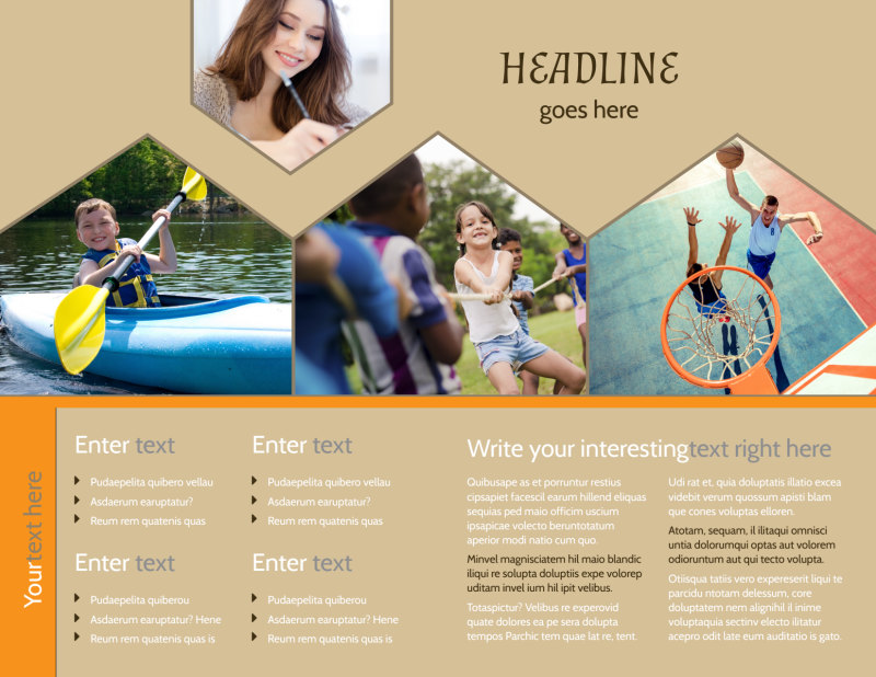 Bible Camp Brochure Template Preview 3