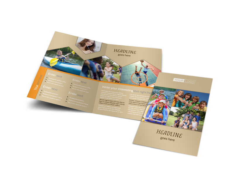 Bible Camp Brochure Template Preview 1