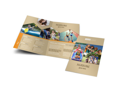 Bible Camp Bi-Fold Brochure Template preview