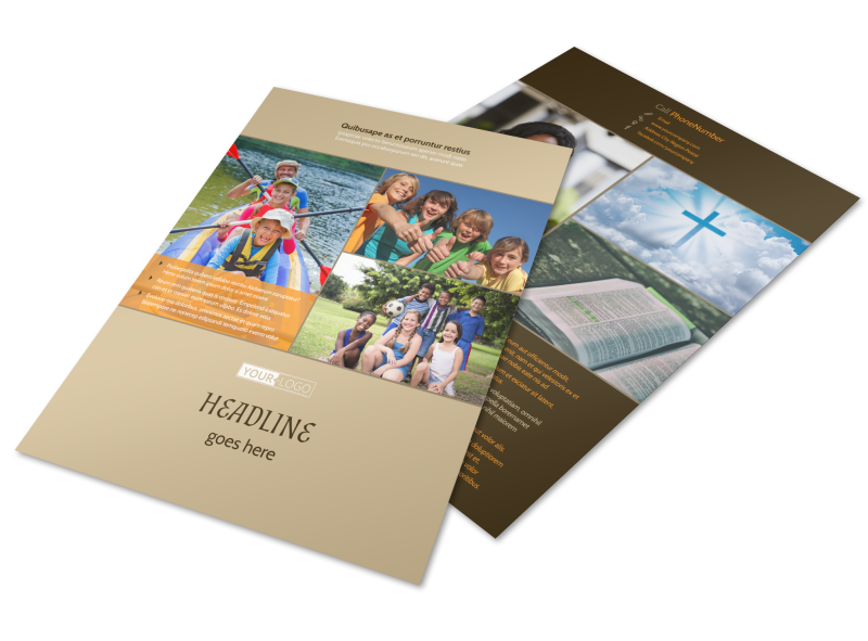 Bible Camp Flyer Template Preview 1
