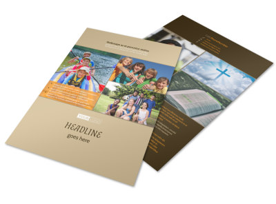 Bible Camp Flyer Template preview