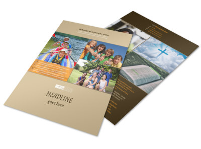 Bible Camp Flyer Template