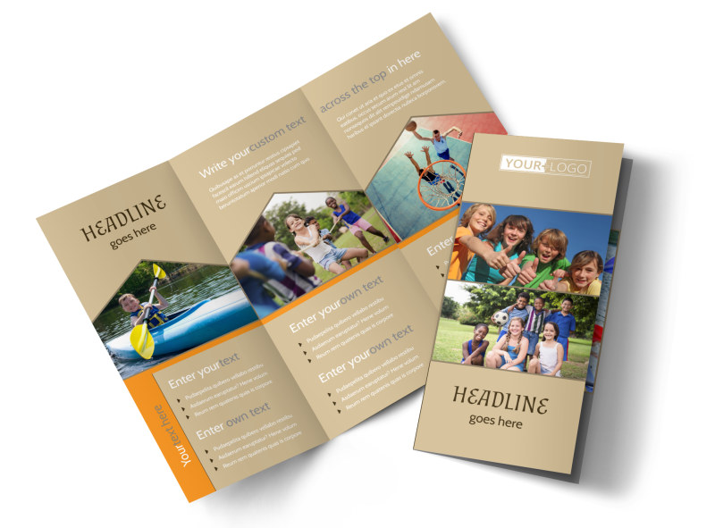 Bible Camp Brochure Template Mycreativeshop
