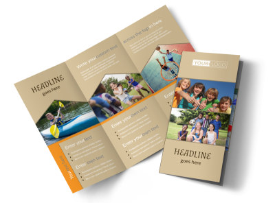 Bible Camp Tri-Fold Brochure Template preview