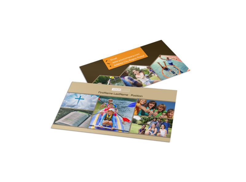 Bible Camp Business Card Template