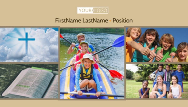 Bible Camp Business Card Template Preview 2