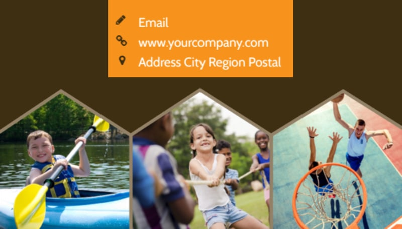 Bible Camp Business Card Template Preview 3