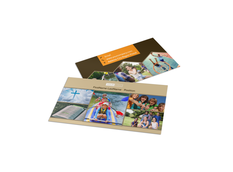 Bible Camp Business Card Template Preview 1
