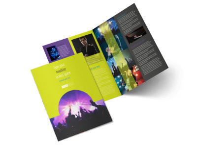 Christian Music Concert Bi-Fold Brochure Template 2