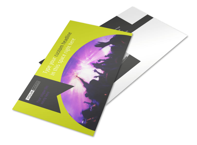 Christian Music Concert Postcard Template 2