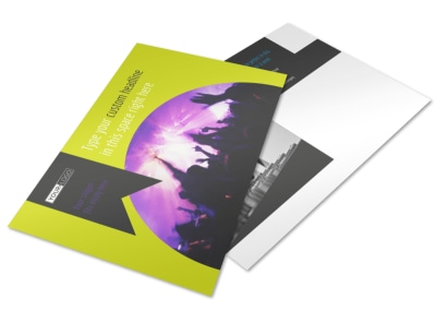 Christian Music Concert Postcard Template
