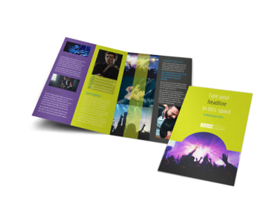 Christian Music Concert Bi-Fold Brochure Template