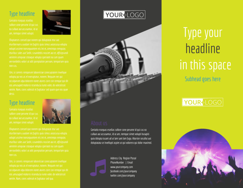 Christian Music Concert Brochure Template Preview 2